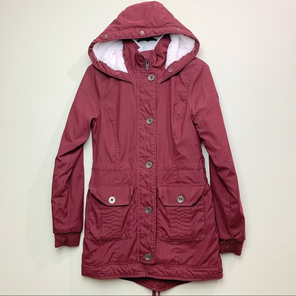Hollister Jackets & Blazers - Hollister Heritage Collection Maroon Perka Coat